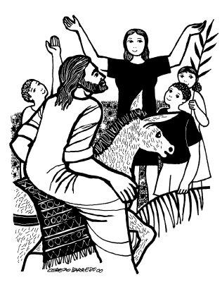 Evangelio segúnsegún san Lucas (22,14–23,56): En aquel tiempo, los ancianos del pueblo, con los jefes de los sacerdotes y los escribas llevaron a Jesús a presencia de Pilato. No encuentro ninguna culpa en este hombre C. Y se pusieron a acusarlo diciendo S. «Hemos encontrado que este anda amotinando a nuestra nación, y oponiéndose a que se paguen tributos al César, y diciendo que él es el Mesías rey». C. Pilatos le preguntó: S. «¿Eres tú el rey de los judíos?». C. El le responde: + «Tú lo dices». C. Pilato dijo a los sumos sacerdotes y a la gente: S. «No encuentro ninguna culpa en este hombre». C. Toda la muchedumbre que había concurrido a este espectáculo, al ver las cosas que habían ocurrido, se volvía dándose golpes de pecho. Todos sus conocidos y las mujeres que lo habían seguido desde Galilea se mantenían a distancia, viendo todo esto. C. Pero ellos insitían con más fuerza, diciendo: S. «Solivianta al pueblo enseñando por toda Judea, desde que comenzó en Galilea hasta llegar aquí». C. Pilato, al oírlo, preguntó si el hombre era galileo; y, al enterarse de que era de la jurisdicción de Herodes, que estaba precisamente en Jerusalén por aquellos días, se lo remitió. Herodes, con sus soldados, lo trató con desprecio C. Herodes, al vera a Jesús, se puso muy contento, pues hacía bastante tiempo que deseaba verlo, porque oía hablar de él y esperaba verle hacer algún milagro. Le hacía muchas preguntas con abundante verborrea; pero él no le contestó nada. Estaban allí los sumos sacerdotes y los escribas acusándolo con ahínco. Herodes, con sus soldados, lo trató con desprecio y, después de burlarse de él, poniéndole una vestidura blanca, se lo remitió a Pilato. Aquel mismo día se hicieron amigos entre sí Herodes y Pilato, porque antes estaban enemistados entre si. Pilato entregó a Jesús a su voluntad  C. Pilato, después de convocar a los sumos sacerdotes, a los magistrados y al pueblo, les dijo: S. «Me habéis traído a este hombre como agitador del pueblo; y resulta que yo