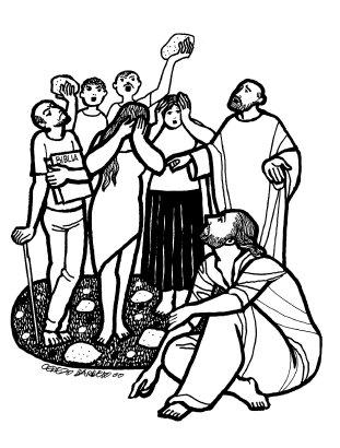 Evangelio según san Juan (8,1-11), del domingo, 7 de abril de 2019